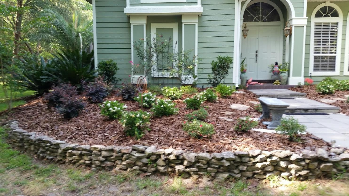 Fall Landscaping installation in Gainesville FL