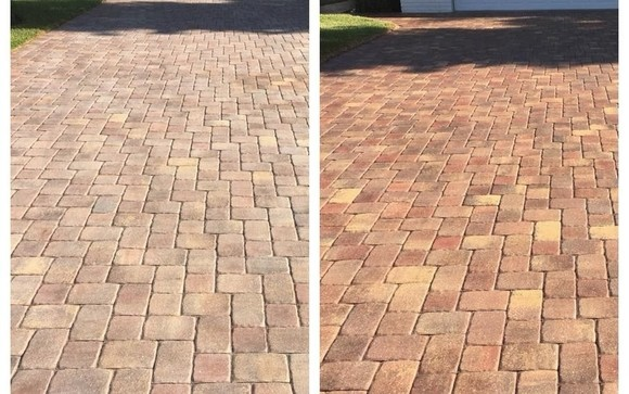 Gainesville brick patio cleaning and sealing