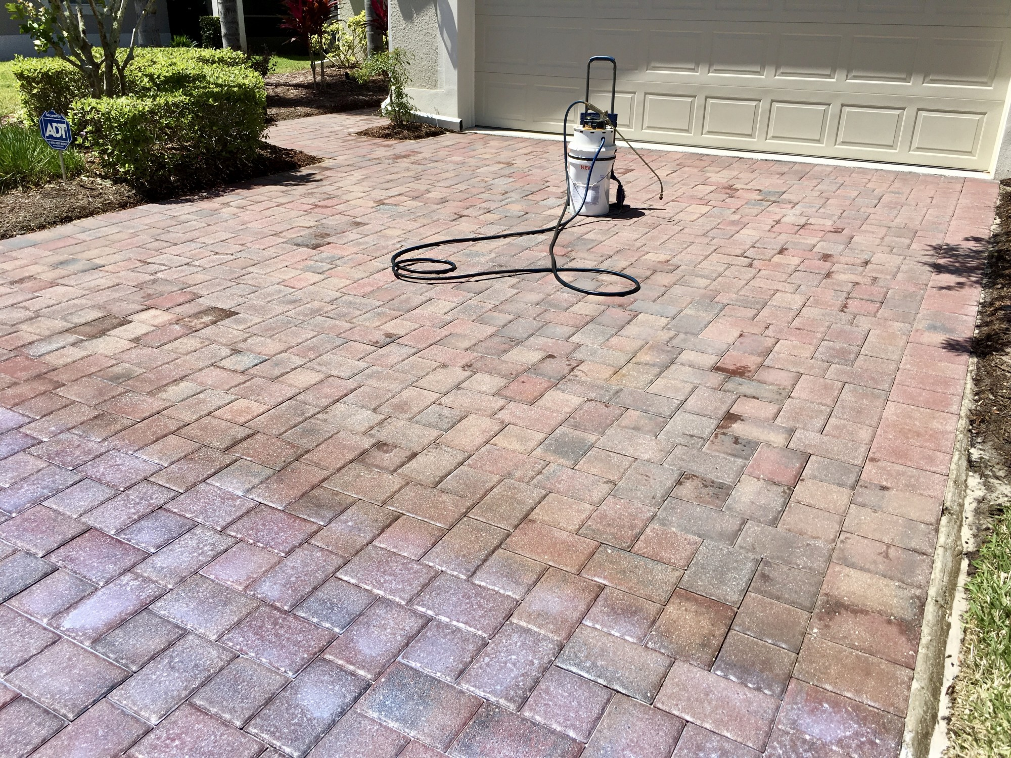 Gainesville Brick Paver Sealing in Process