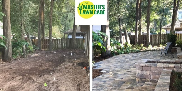 Gainesville paver patio project